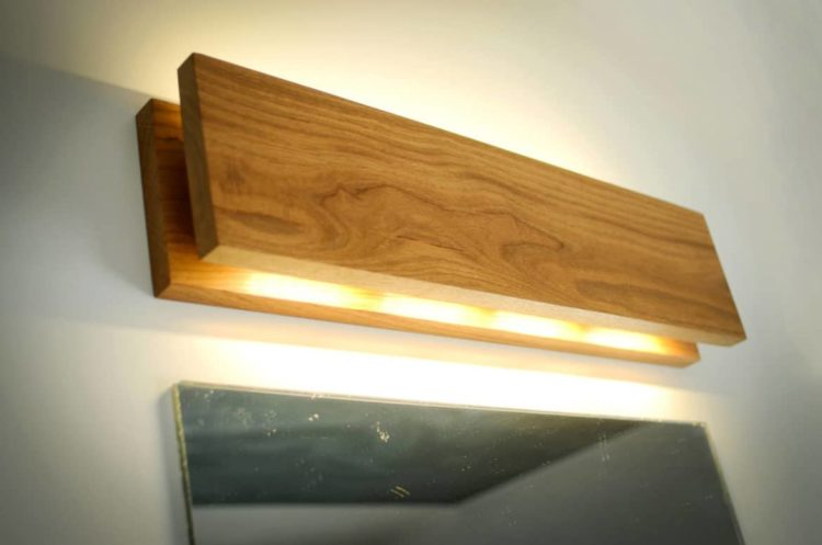 Handmade Oak Wooden Sconce • iD Lights