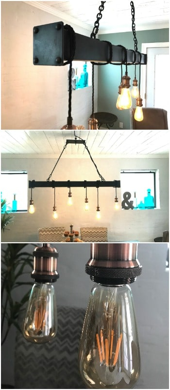 Industrial Steel Beam With Cloth Cord Wrap Id Lights