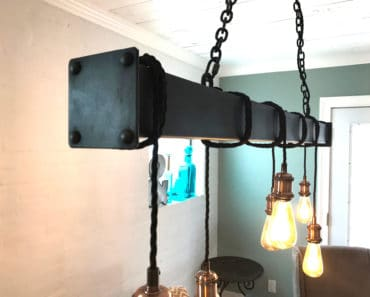 Industrial Steel Beam with Cloth Cord Wrap