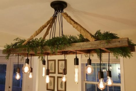 Vintage Farmhouse Ladder Chandelier Id Lights