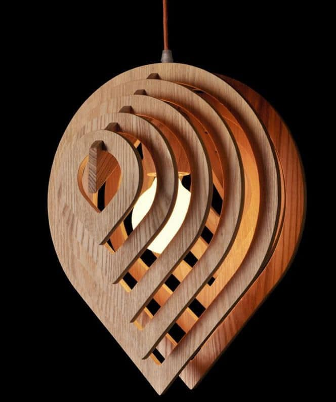 Wooden Water Drop Lamp Pendant Lighting