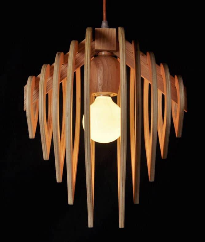 Wooden Water Drop Lamp