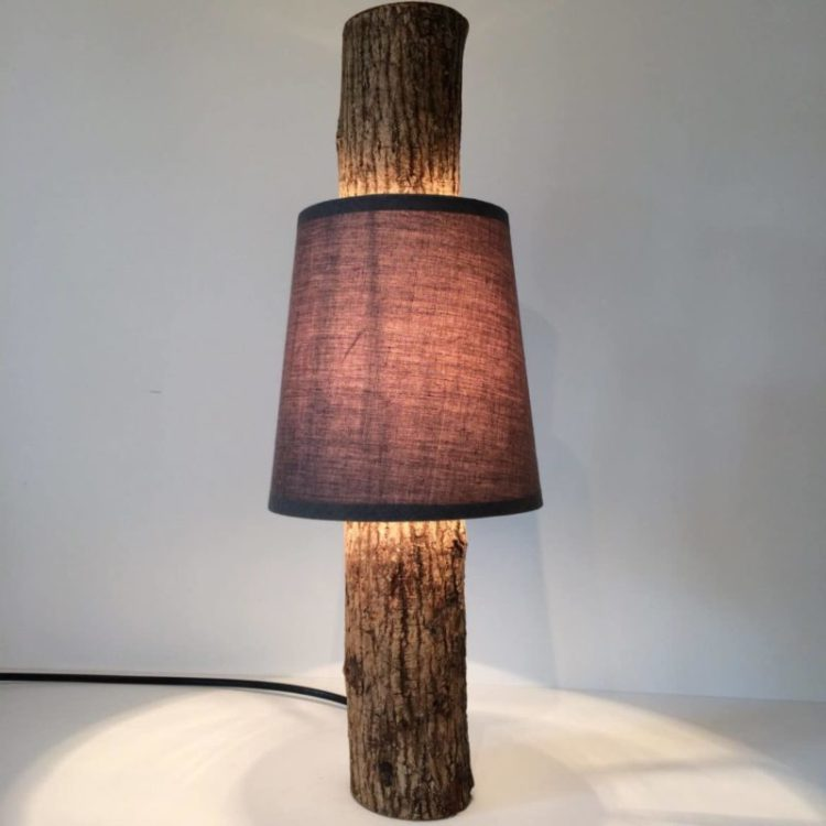 Amazing Simple Log Lamp with Shade - table-lamps