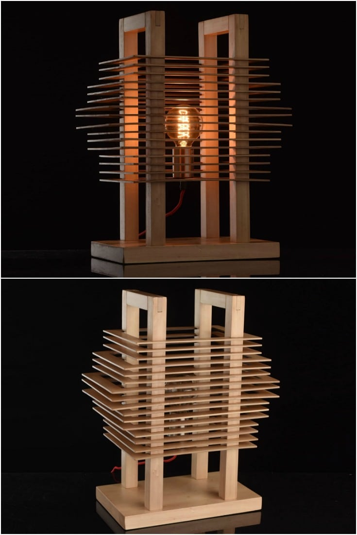 Cute Wooden Slices Table Lamp - desk-lamps