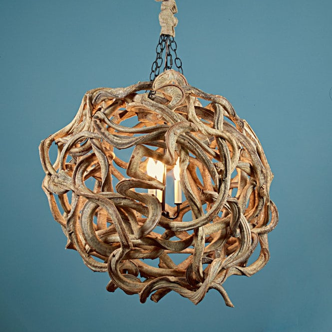 Driftwood Ball Chandelier - chandeliers