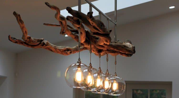 Fascinating Driftwood Rustic Chandelier - chandeliers