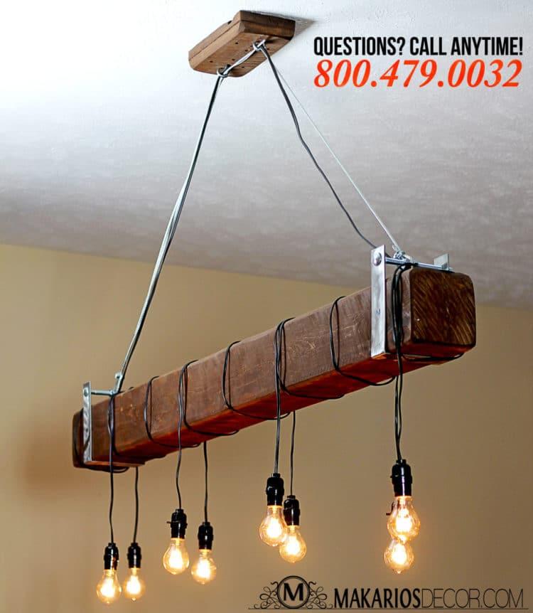 Industrial Beam Light with Edison Bulbs Offer - restaurant-bar, pendant-lighting