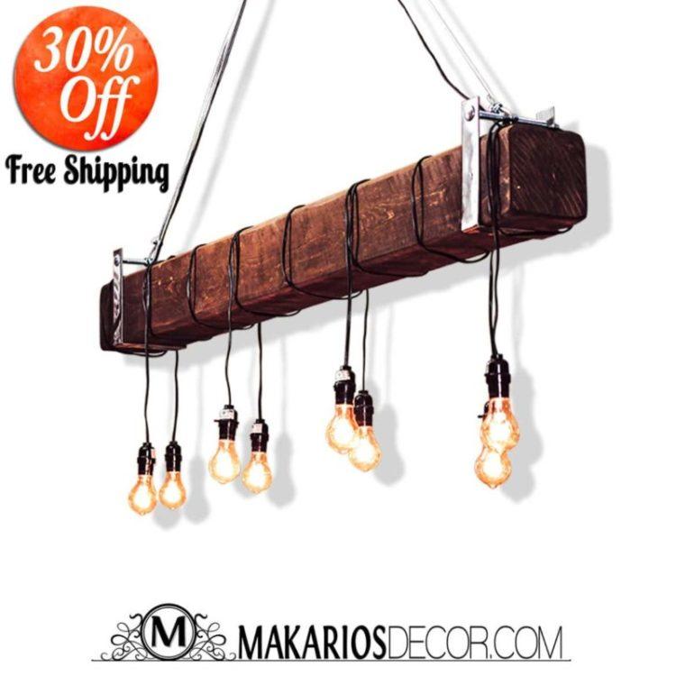 Industrial Beam Light with Edison Bulbs Offer Pendant Lighting