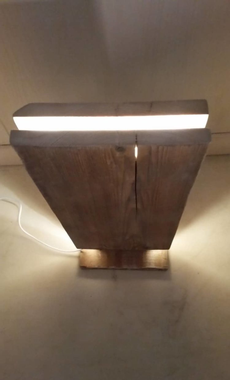 Reclaimed Wood Led Floor Lamp Id Lights