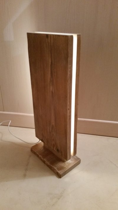Reclaimed Wood Led Floor Lamp