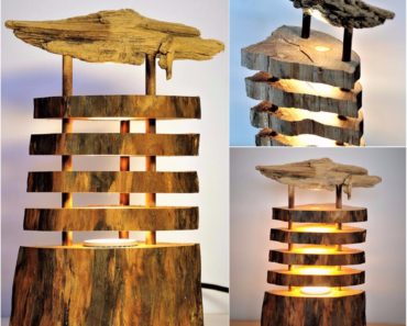 Seaside Driftwood Log Lamp