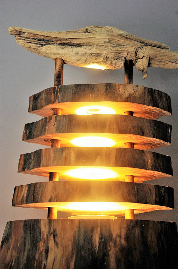 Seaside Driftwood Log Lamp - table-lamps