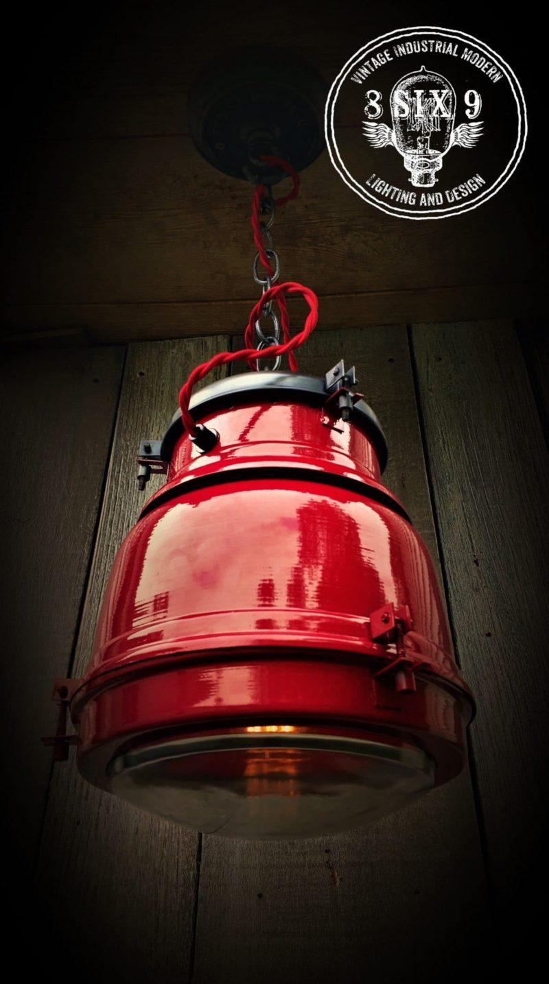 Industrial Firehouse Cannister Lighting - pendant-lighting