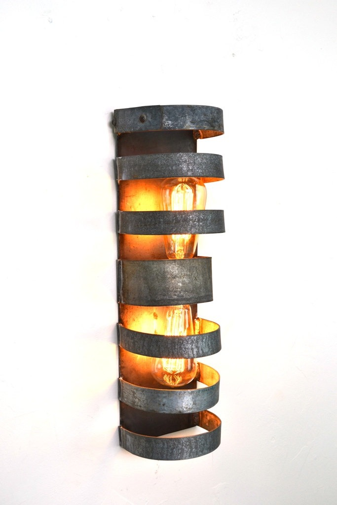 Double Wine Barrel Wall Sconce Id Lights