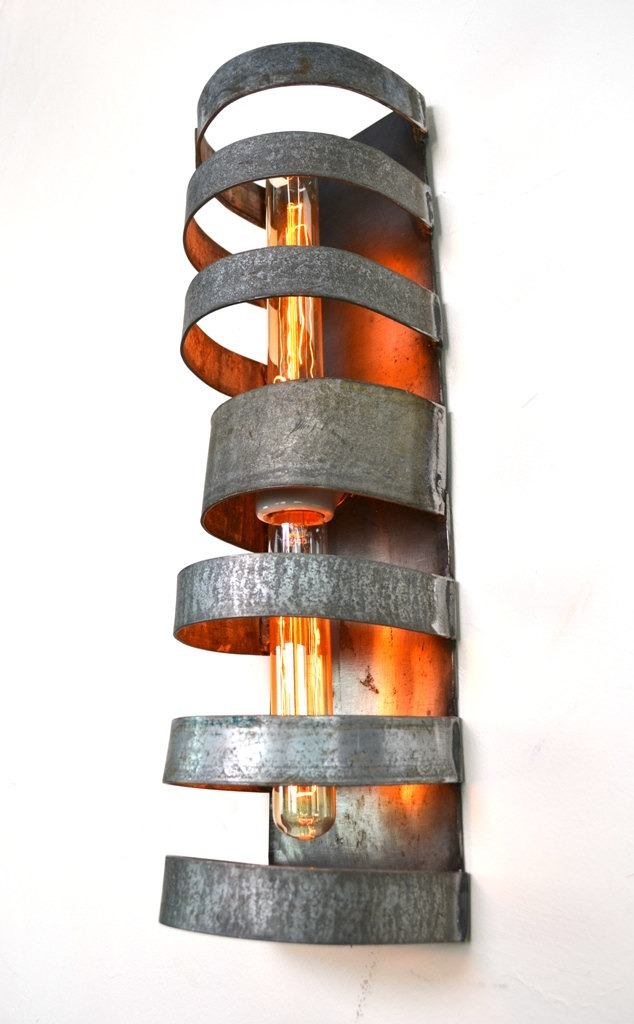Double Wine Barrel Wall Sconce - wall-lights-sconces