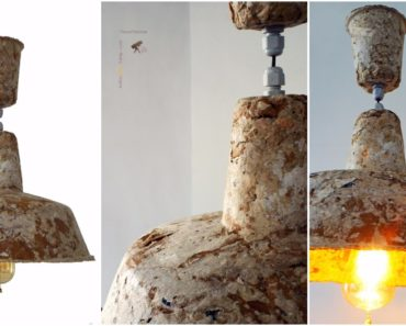 Industrial Style Recycled Paper Lamp