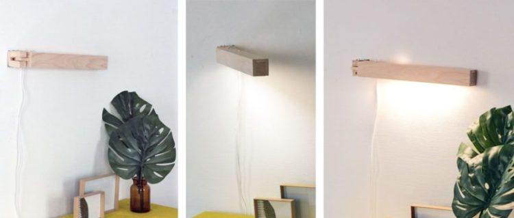 make a pretty articulated wall mounted lamp id lights
