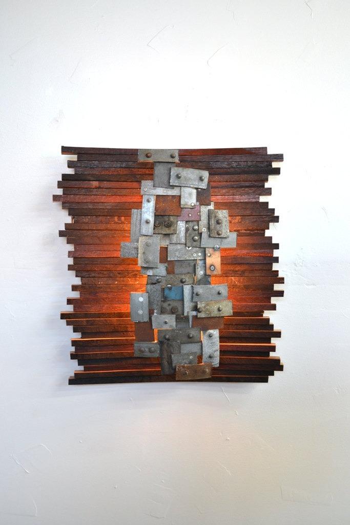 Recycled Napa Barrels Art Wall Light - wall-lights-sconces