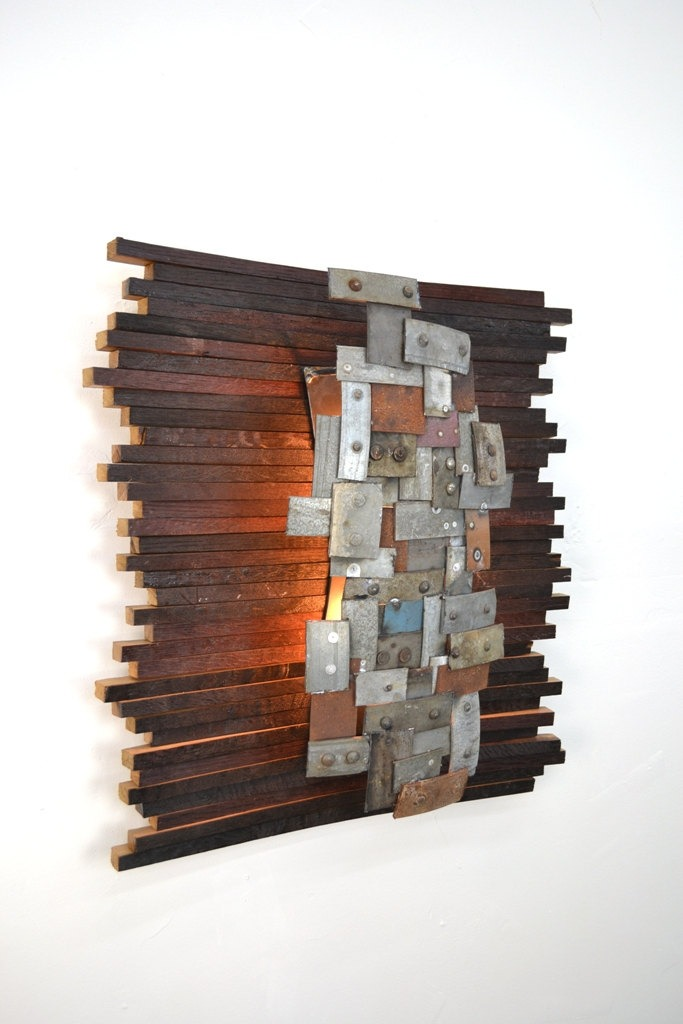 Recycled Napa Barrels Art Wall Light Id Lights