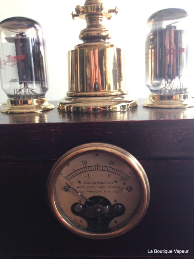 Steampunk Lamp with Dimmer and Amperes Meter - table-lamps