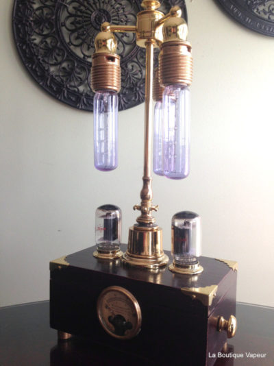 Steampunk Lamp with Dimmer and Amperes Meter