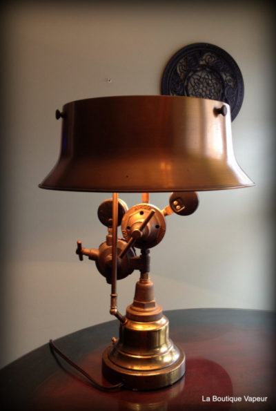 Steampunk Table Lamp made from Vintage Torch