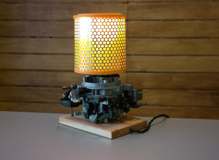 Table Lamp from Vintage Retro Car Parts - table-lamps
