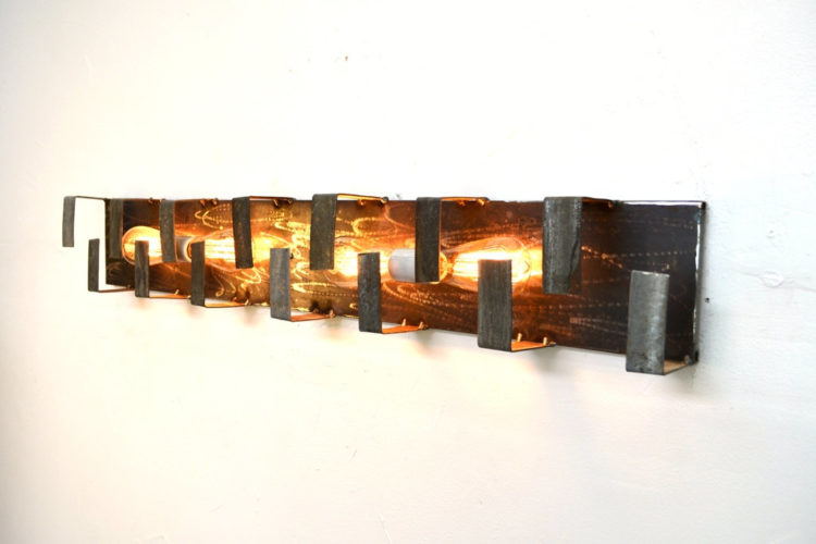 Wine Barrel Ring Wall Mounted Sconce