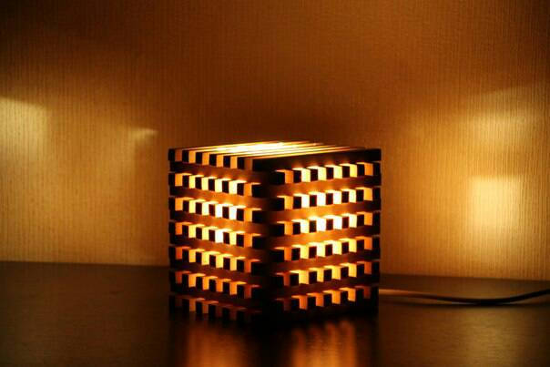 Wooden Bedside Light Cube Id Lights