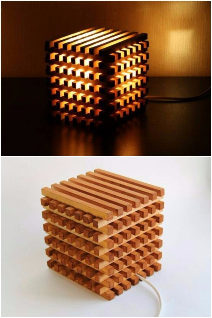 Wooden Bedside Light Cube • iD Lights