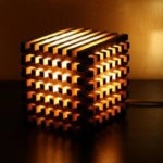 Wooden Bedside Light Cube