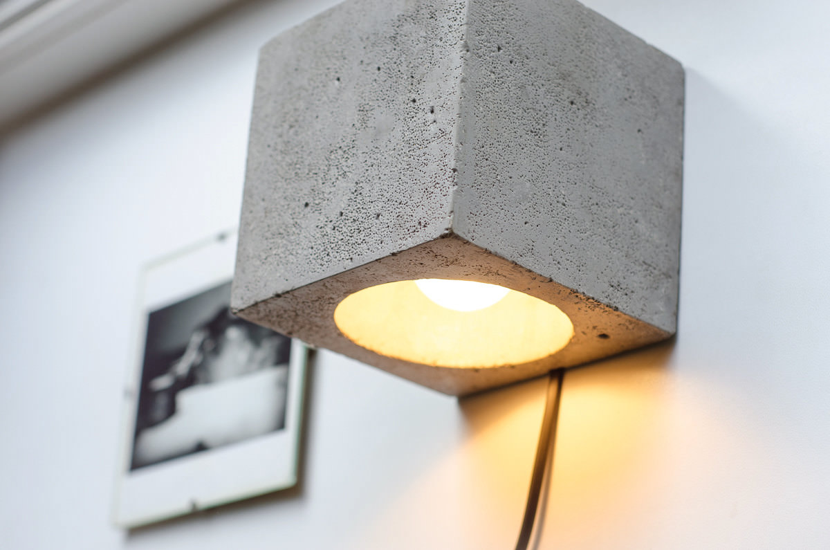 Wall Lamp Dimmer Concrete Id Lights
