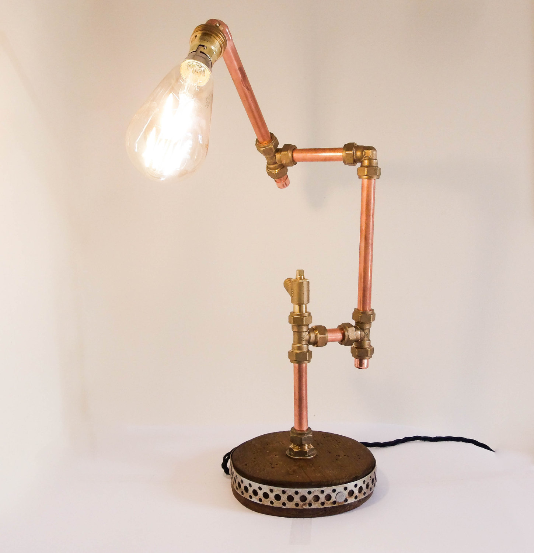 Industrial Design CopperTable Lamp - desk-lamps