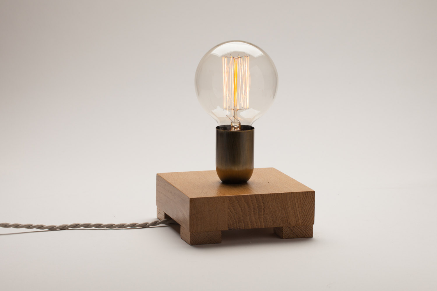 Edison Oak Wood Lamp