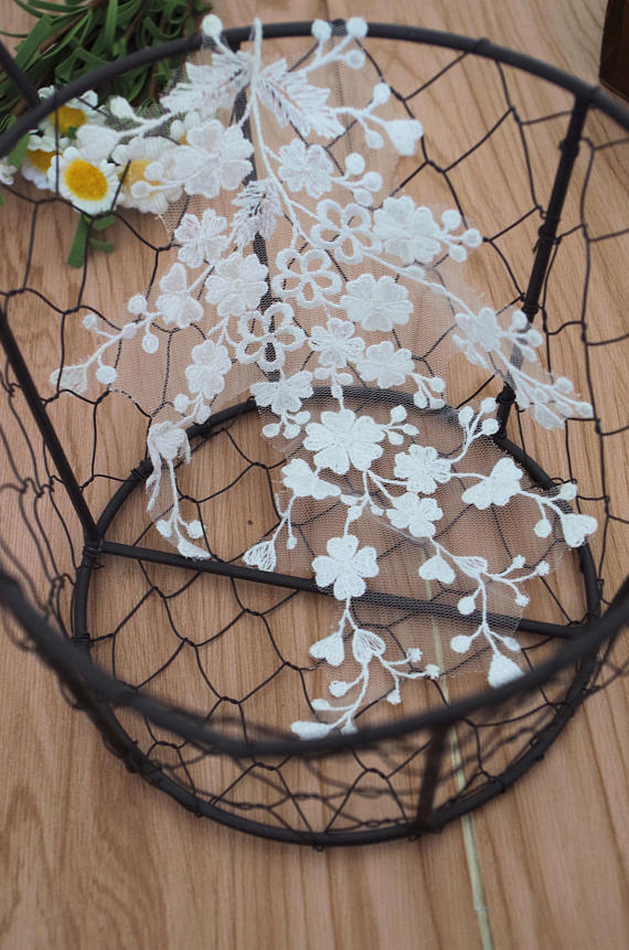 Cute Lace Headpiece for Wedding Applique