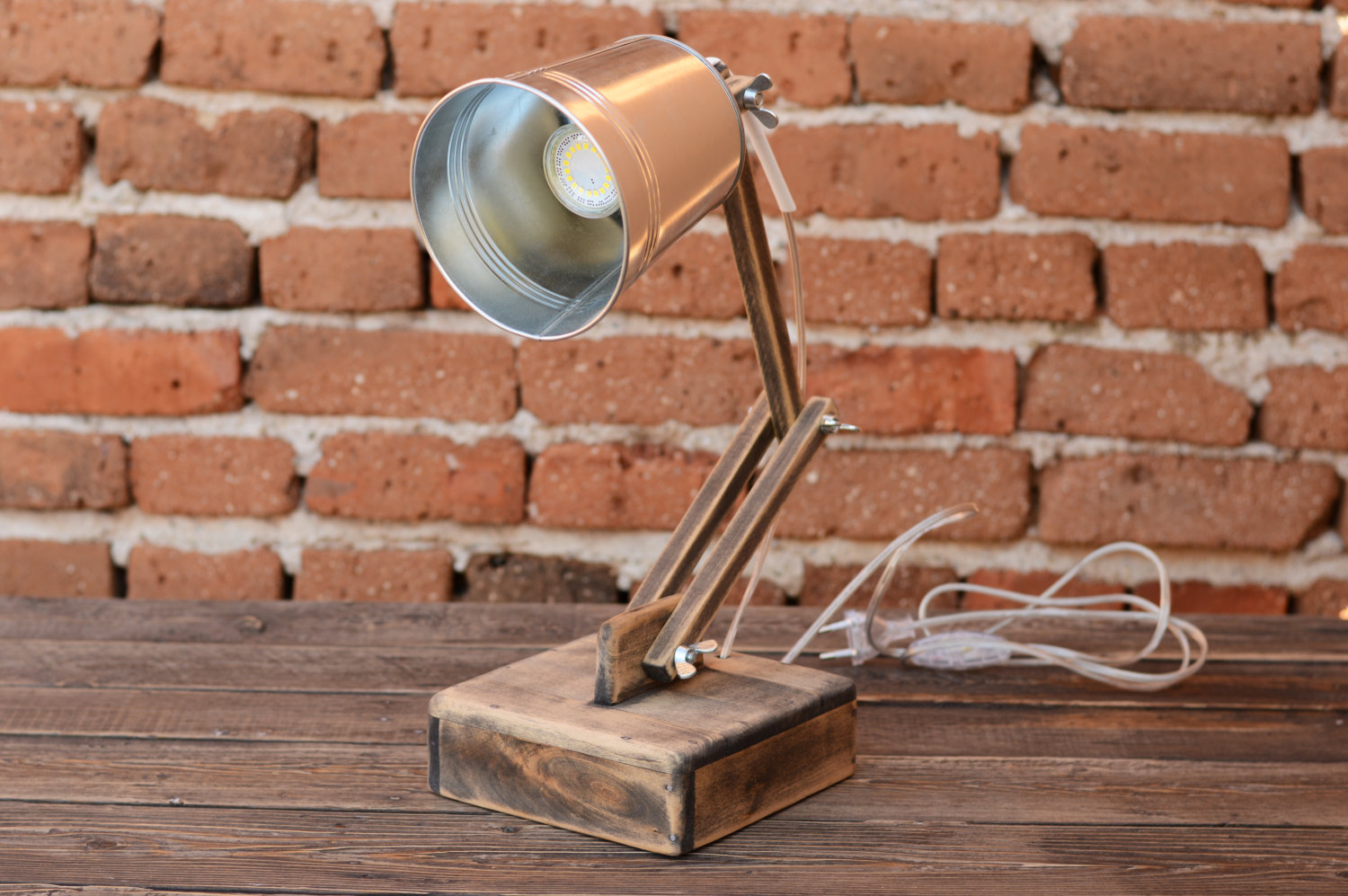 Office lamp Wooden Desk Lamp 1 - Desk Lamps - iD Lights