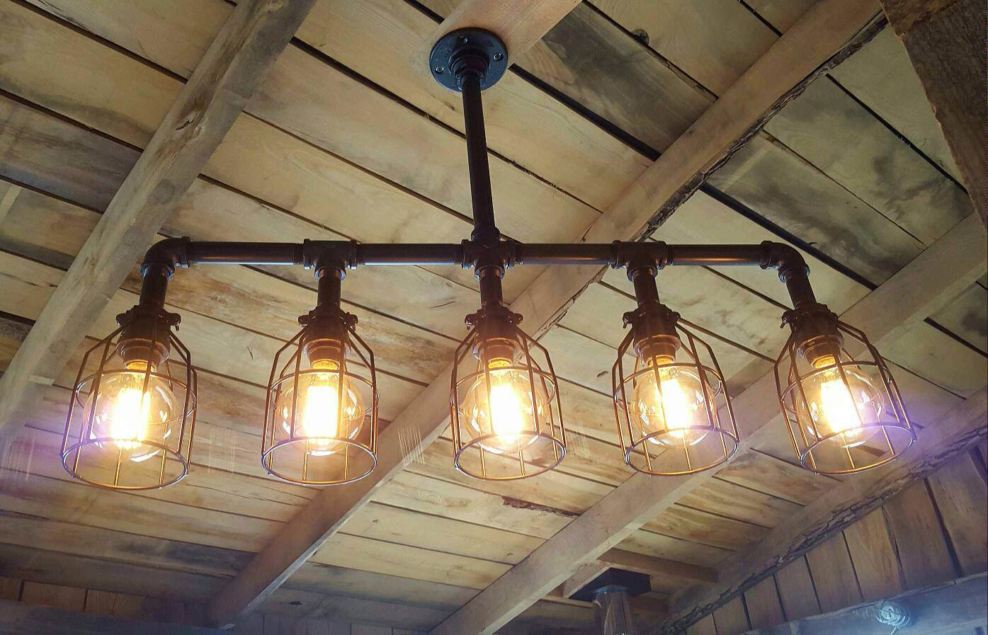 Rustic Industrial Lighting Chandelier 1 - Chandeliers - iD Lights