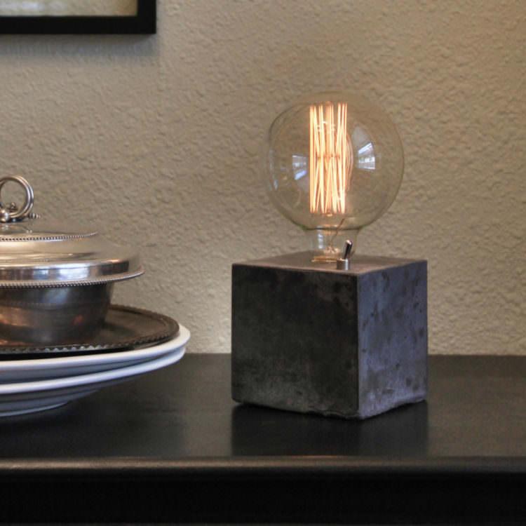 Simple Concrete Desk Lamp 13 - Table Lamps - iD Lights