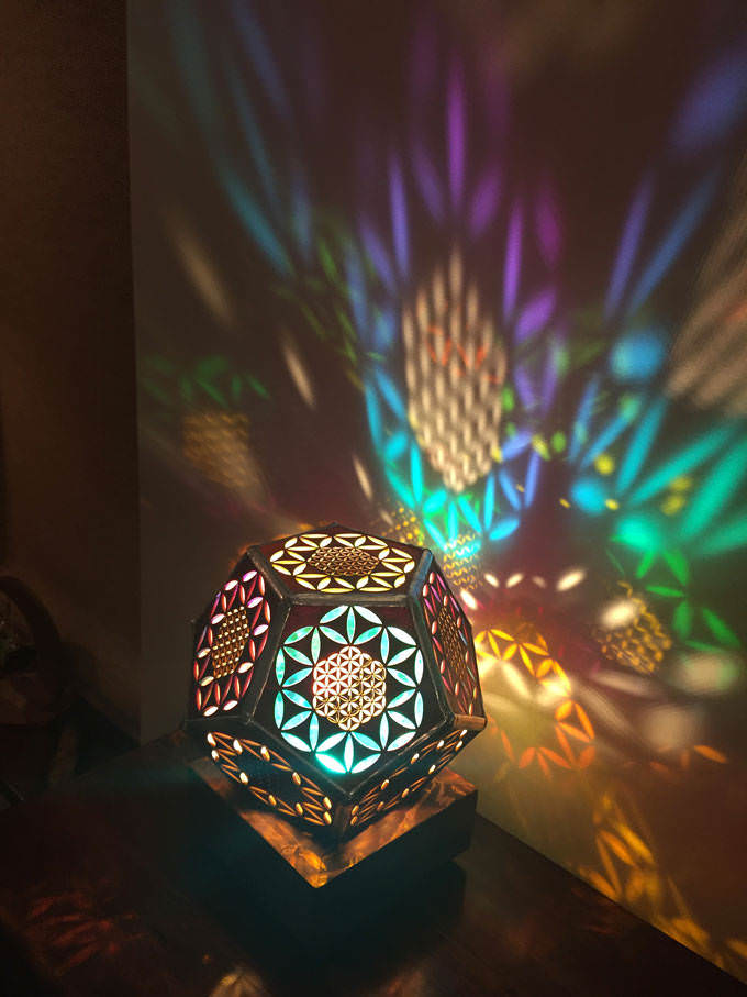 Flower of Life Wood Morocco Lamp - wood-lamps, table-lamps