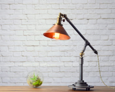 Industrial Copper Table Lamp - desk-lamps