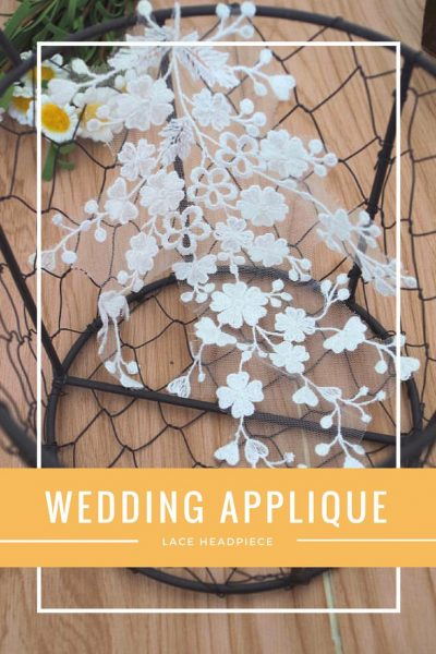 Lace Headpiece for Wedding Applique
