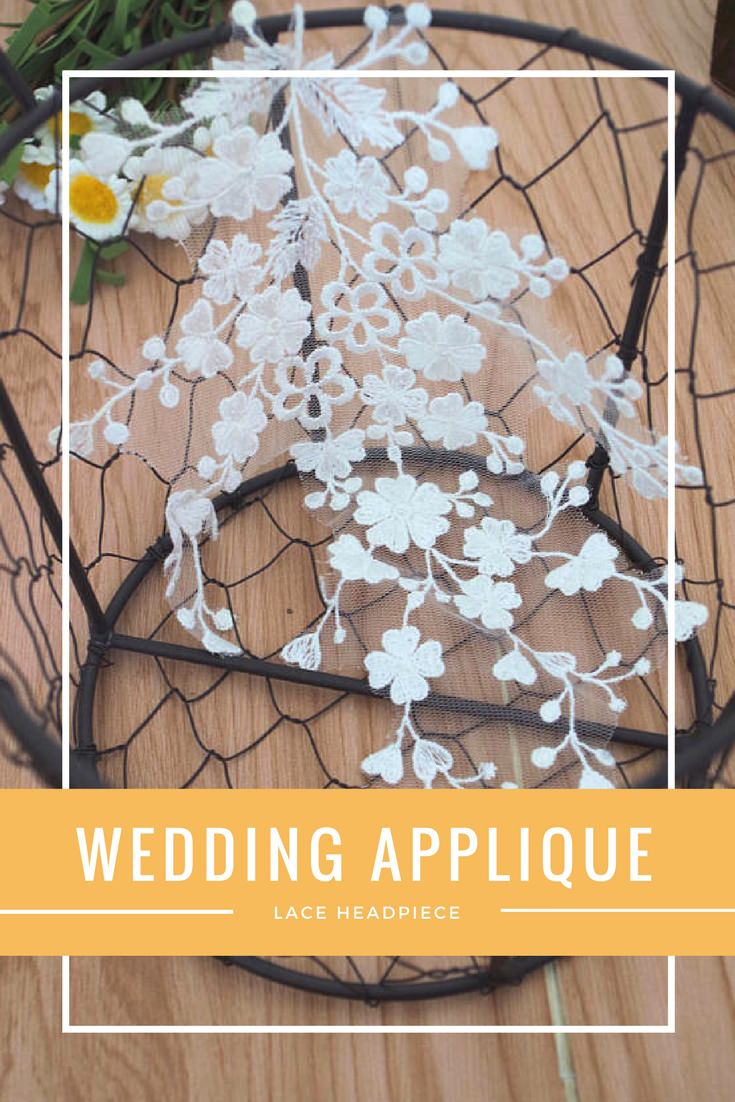 Lace Headpiece for Wedding Applique