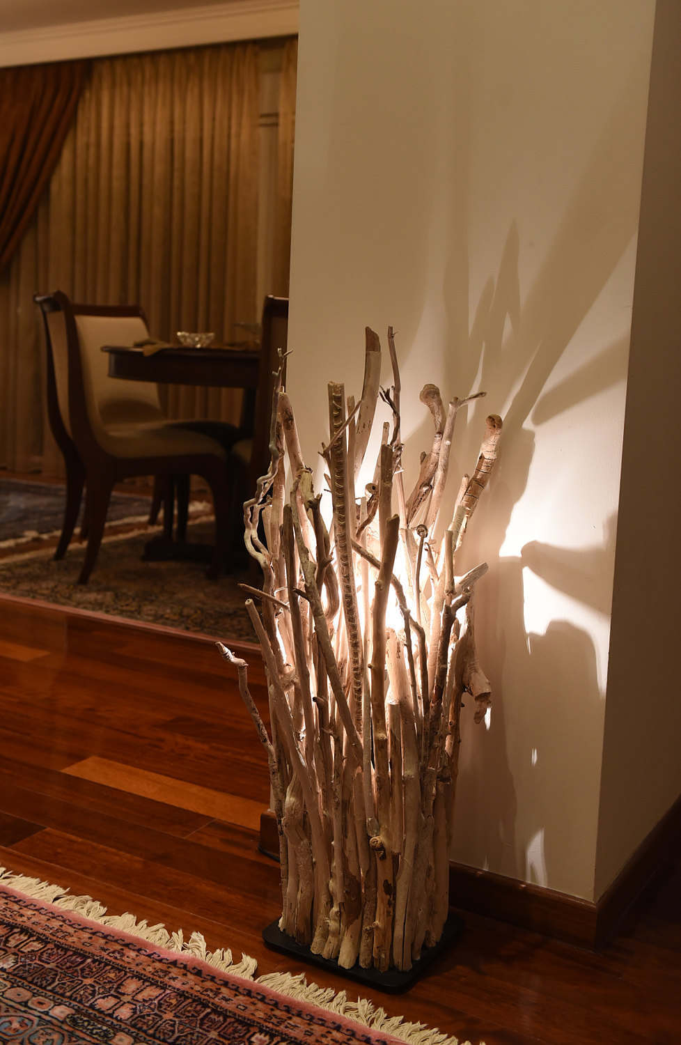 michael made brushed floor custom steel base with by hand designsadrift lamp driftwood