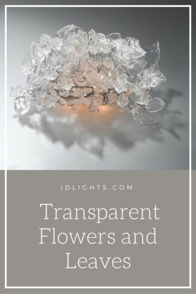 Sconce with Transparent Flowers and Leaves