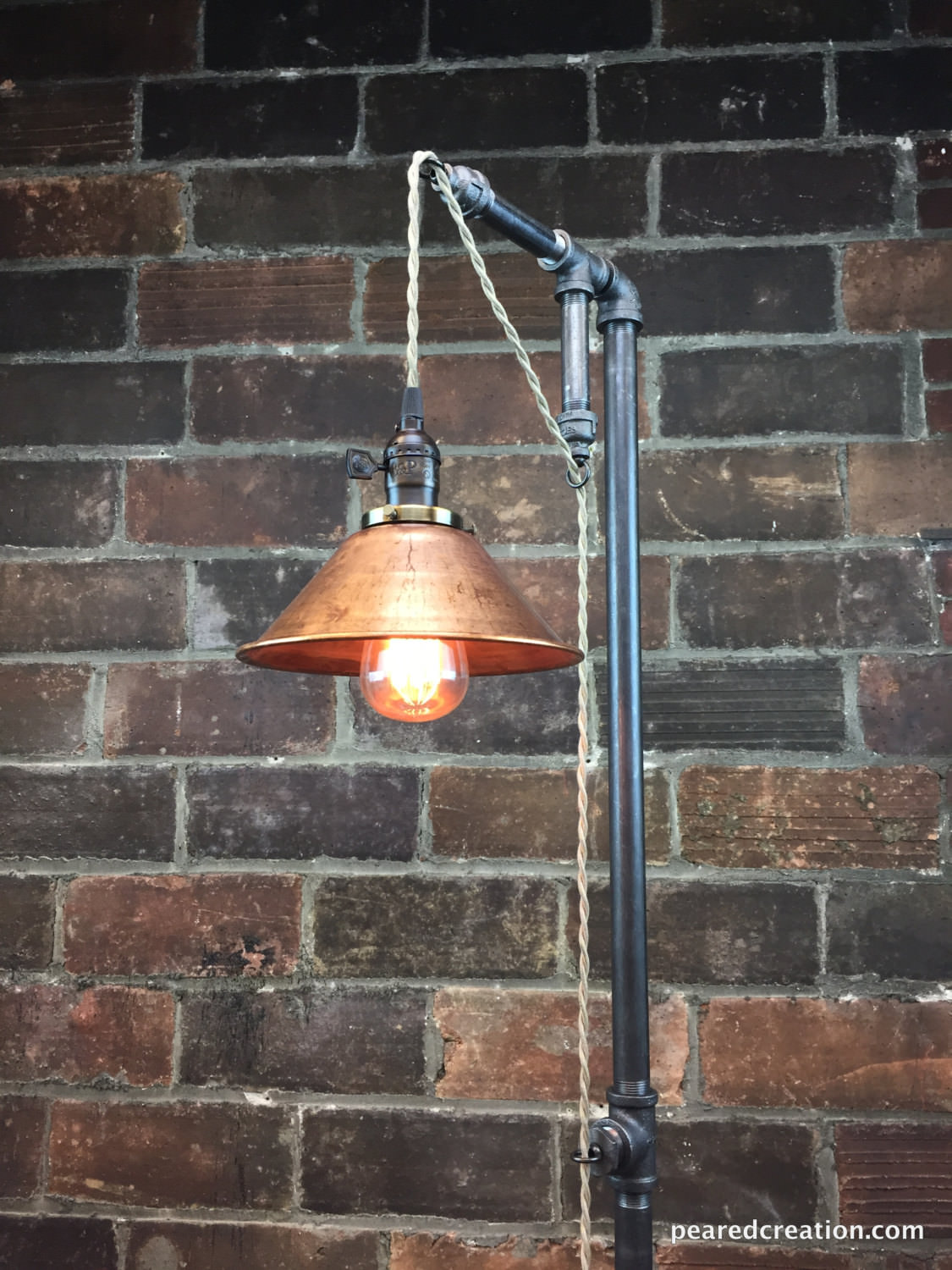 Industrial Steampunk Floor Lamp 1 - Floor Lamps - iD Lights