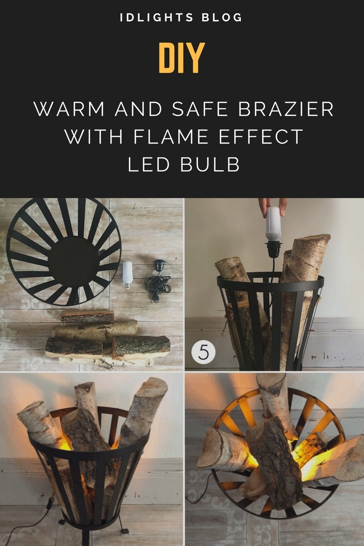 DIY Warm and Safe Atmosphere with Flame Effect Bulb