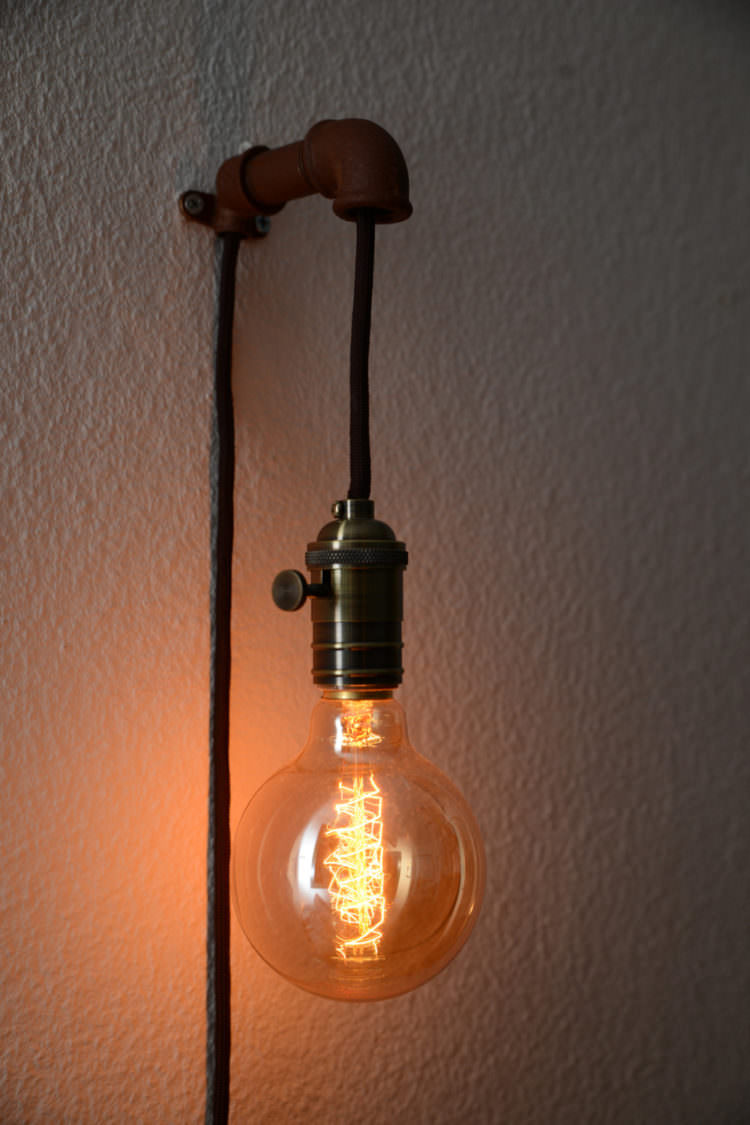 Steampunk Wall Pendant Lamp - wall-lights-sconces