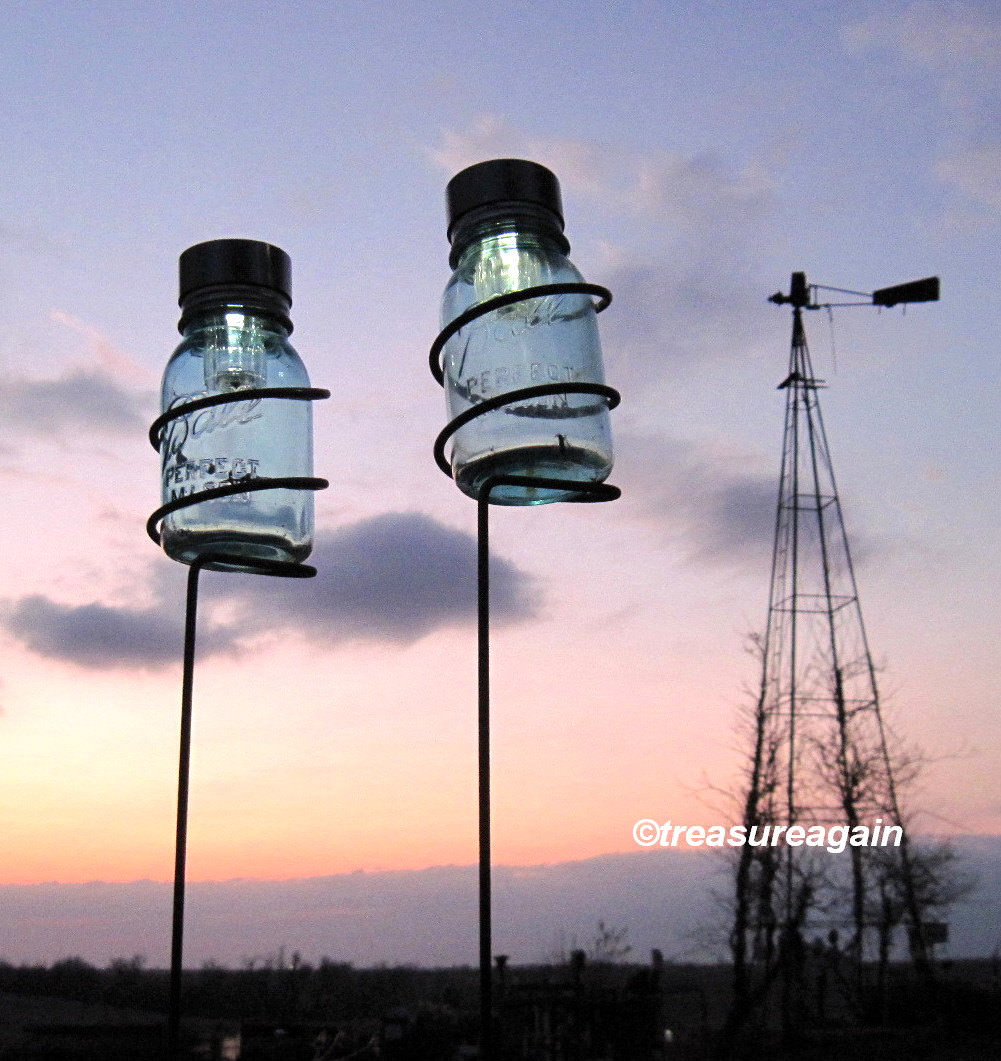Outdoor Solar Mason Jar Lanterns 1 - Outdoor Lighting - iD Lights