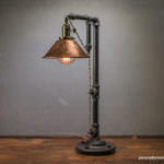 Rustic Iron Pipe Table Lamp