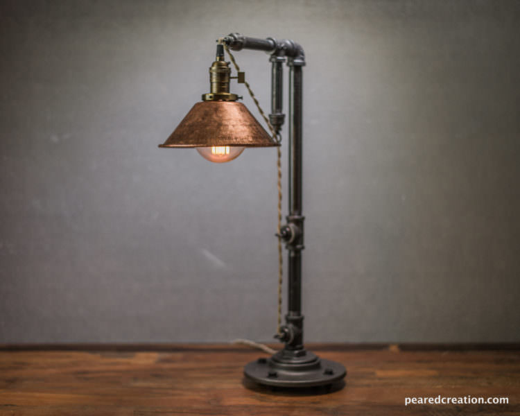 Rustic Iron Pipe Table Lamp 17 - Desk Lamps - iD Lights